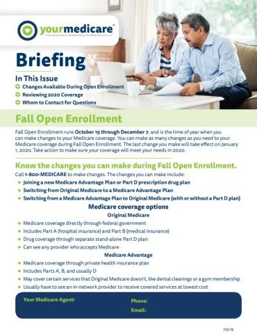 fall open enrollment