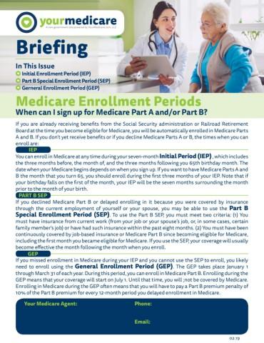 Medicare Enrollment Periods