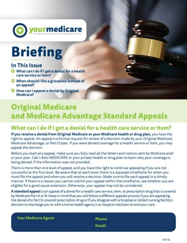 Original Medicare and Medicare Standards Appeals